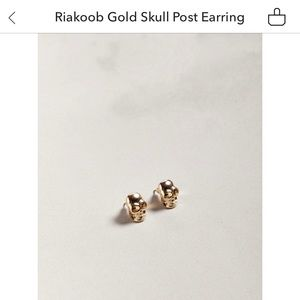 Gold Skull Earrings Urban Outfitters